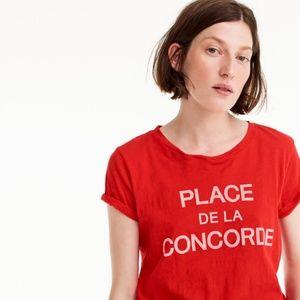 J CrewcPlace de la Concorde Paris graphic T-shirt